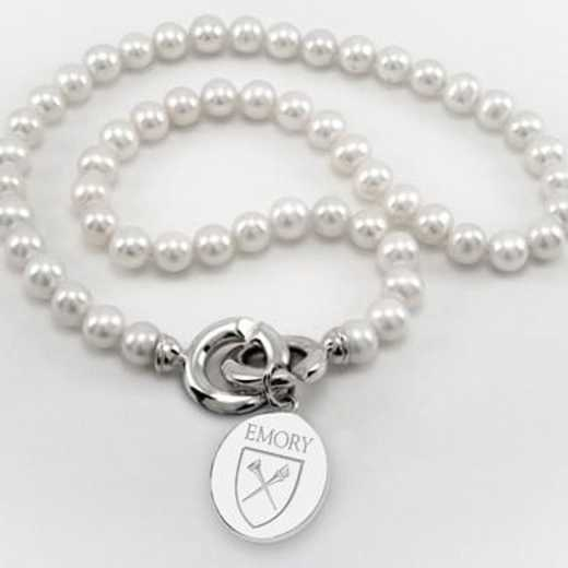 615789157595: Emory Pearl Necklace W/ SS Charm