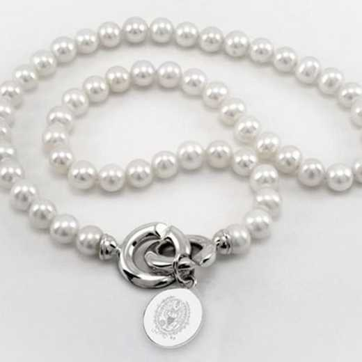 615789345756: Georgetown Pearl Necklace W/ SS Charm