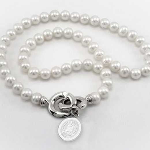 615789321118: UNC Pearl Necklace W/ SS Charm