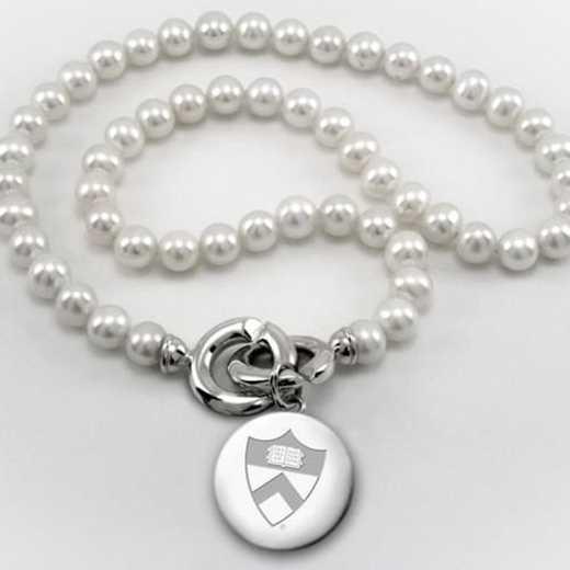 615789926757: Princeton Pearl Necklace W/ SS Charm