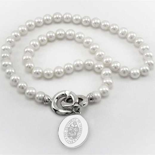 615789641971: UNIV of Tennessee Pearl Necklace W/ SS Charm