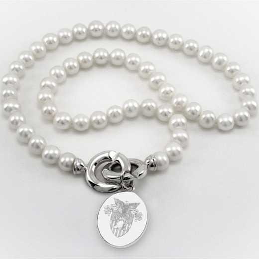 615789761778: West Point Pearl Necklace W/ USMA SS Charm