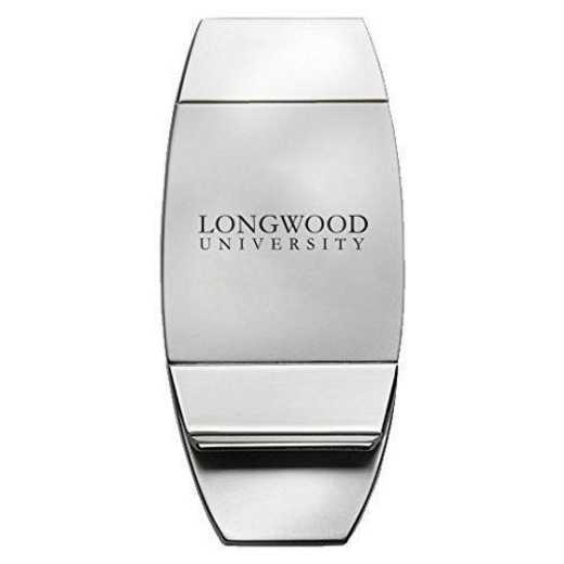 1145-LONGWOOD-L1-LRG: LXG MONEY CLIP, Longwood Univ