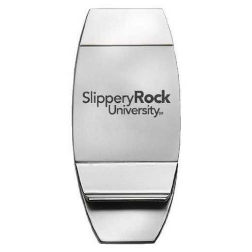 1145-SLPROCK-L1-SMA: LXG MONEY CLIP, Slippery Rock Univ