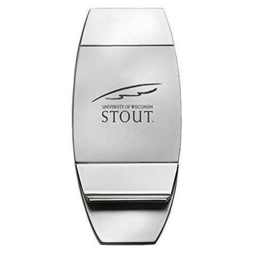 1145-WISCSTO-L1-LRG: LXG MONEY CLIP, Wisconsin-Stout