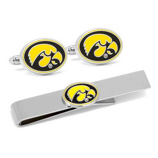 PD-IOW2-CT: University of Iowa Hawkeyes Cufflinks and Tie Bar Gift Set