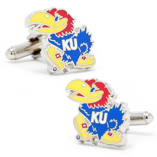 PD-KU-SL: University of Kansas Jayhawks Cufflinks