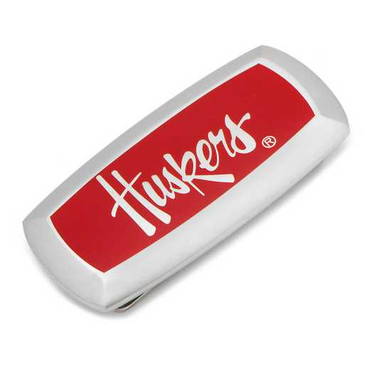 PD-NCH-MC2: University of Nebraska Cornhuskers Cushion Money Clip