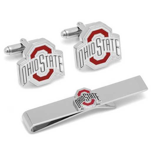 PD-OSU-CT: Ohio State University Cufflinks and Tie Bar Gift Set