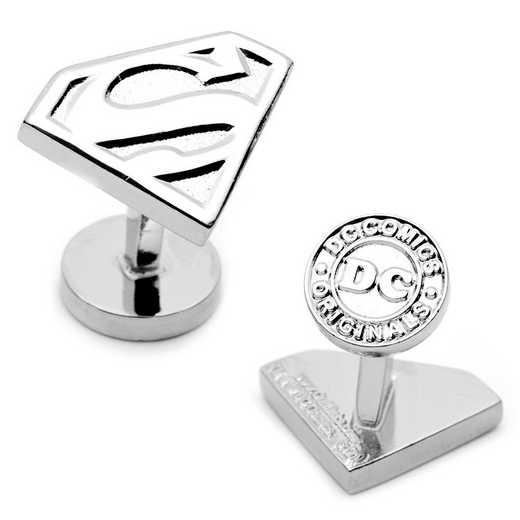 DC-SS-SL: Silver Superman Shield Cufflinks