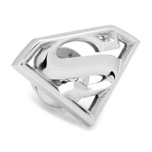 DC-SUPSTL-LP: Stainless Steel Superman Lapel Pin