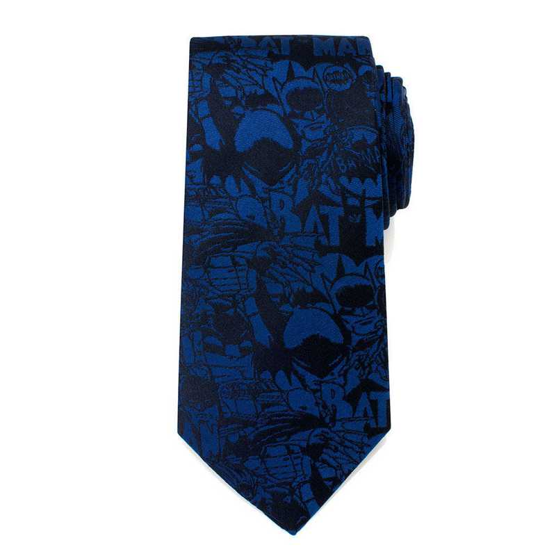 DC-BATC-BL-TR: Blue Batman Comic Tie