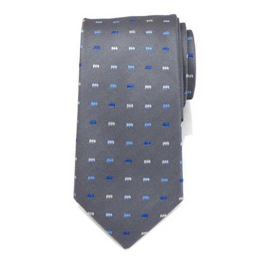 DC-BICN-GRY-TR: Batman Icon Gray Mens Tie