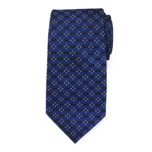 DC-BTDT-BL-TR: Batman Icon Diamond Dot Navy Mens Tie