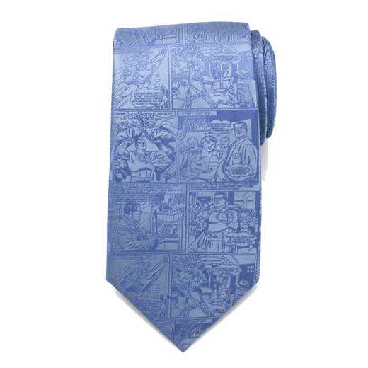 DC-SUPC-BL-TR: Superman Comic Blue Mens Tie