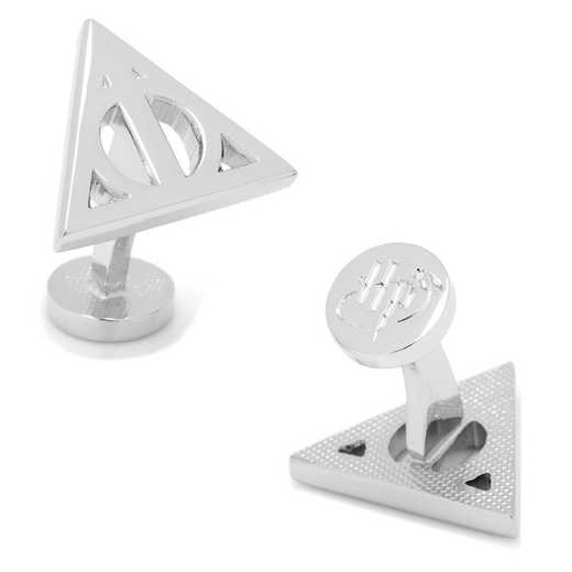 HP-DHALDI-SL: Silver Deathly Hallows Cufflinks