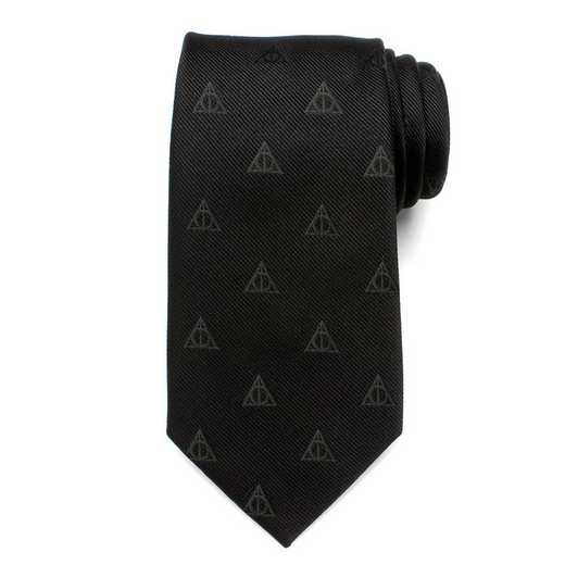 HP-DHAL-BK-TR: Deathly Hallows Tie