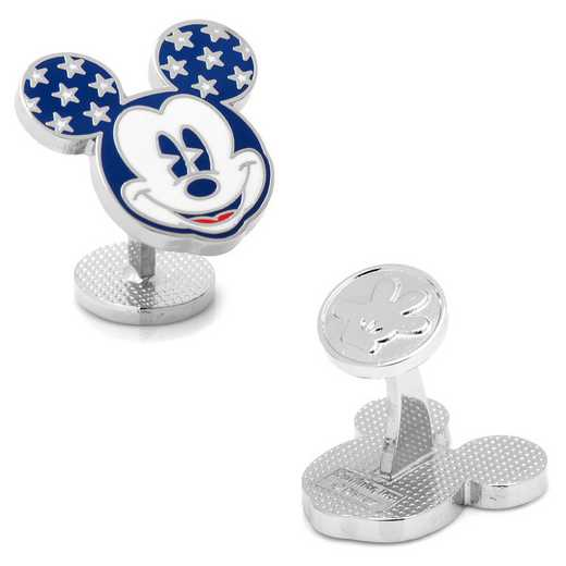 DN-MVUSA-SL: Vintage Stars and Stripes Mickey Mouse Cufflinks