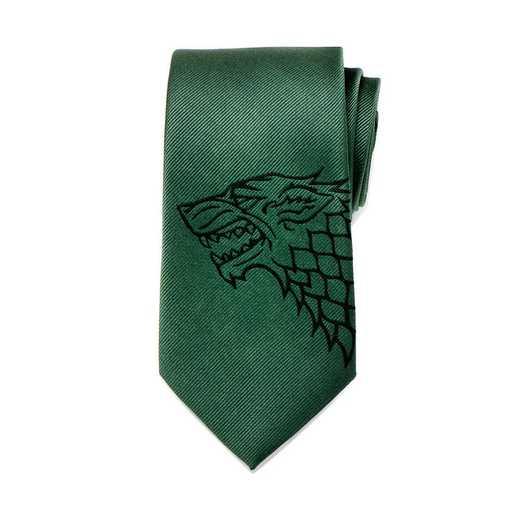 GT-SDW-GRN-TR: Stark Direwolf Green Men's Tie
