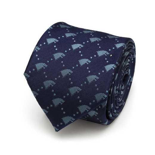 GT-SDW-NVY-TR: Stark Direwolf Men's Tie