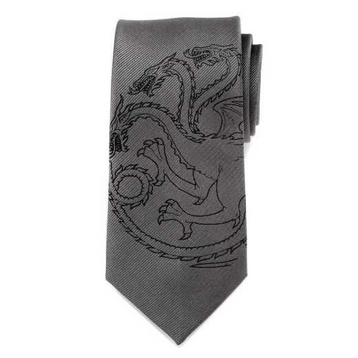 GT-TDR-GRY-TR: Targaryen Dragon Gray Men's Tie