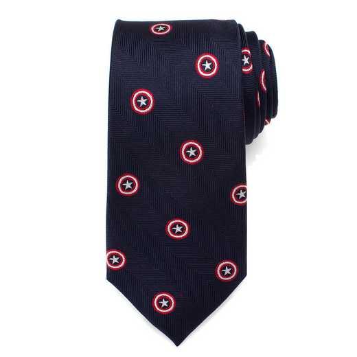 MV-CAS-BL-TR: Captain America Navy Tie
