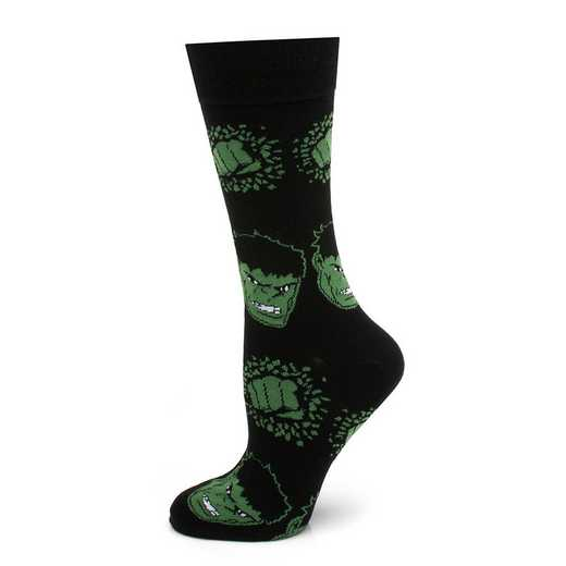 MV-HULK-BK-SC: Black Hulk Socks