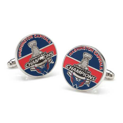 PD-CPT18-SL: 2018 Washington Capitals Stanley Cup Champions Cufflinks