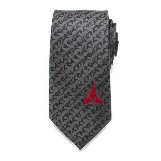 ST-KLG-GRY-TR: Klingon Gray Men's Tie