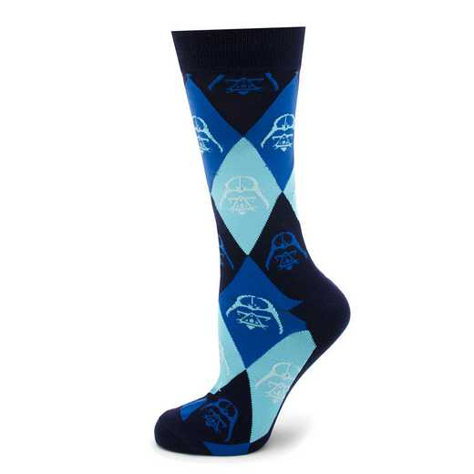 SW-DVARG2-BL-SC: Darth Vader Argyle Blue Socks