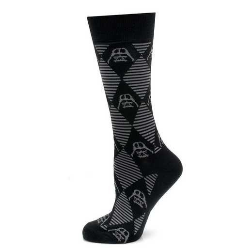 SW-DVARG-BK-SC: Darth Vader Argyle Stripe Black Socks