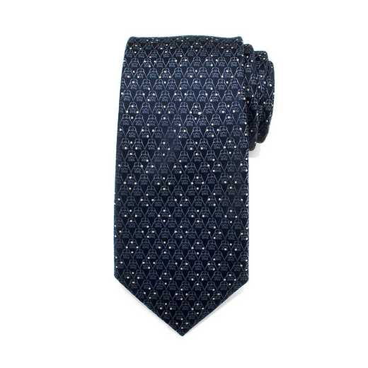 SW-DVDT-BL-TR: Darth Vader Navy Diamond Dot Mens Tie