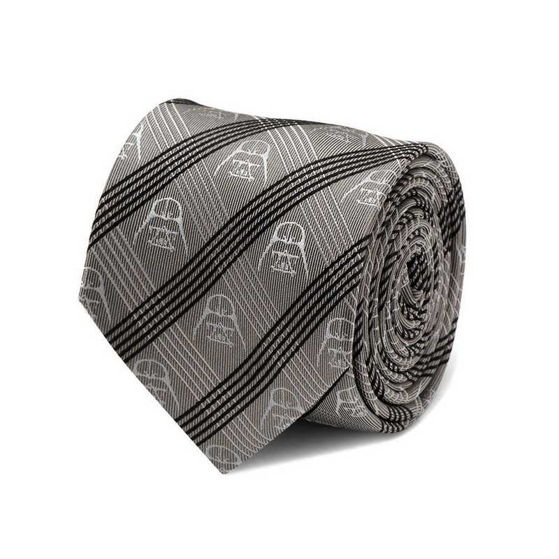 SW-DVPLD-GRY-TR: Darth Vader Gray Plaid Tie