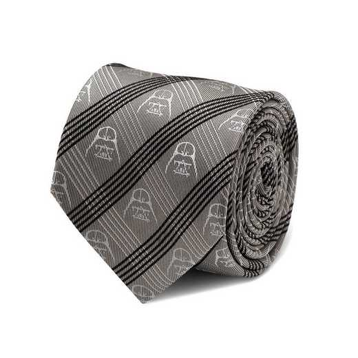 SW-DVPLD-GRY-TR: Darth Vader Gray Plaid Tie