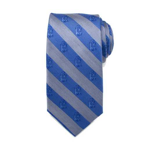 SW-R2ST-GBL-TR: R2D2 Blue and Grey Stripe Men's Tie