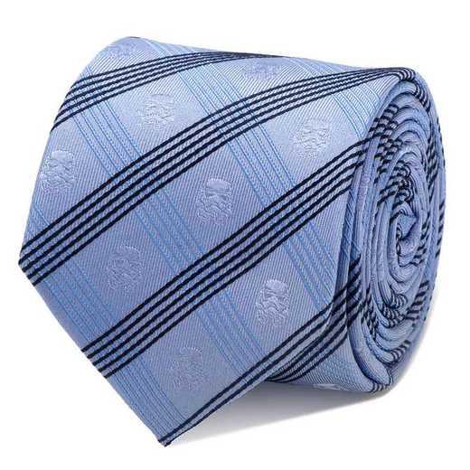 SW-STPLD-BL-TR: Stormtrooper Blue Plaid Tie