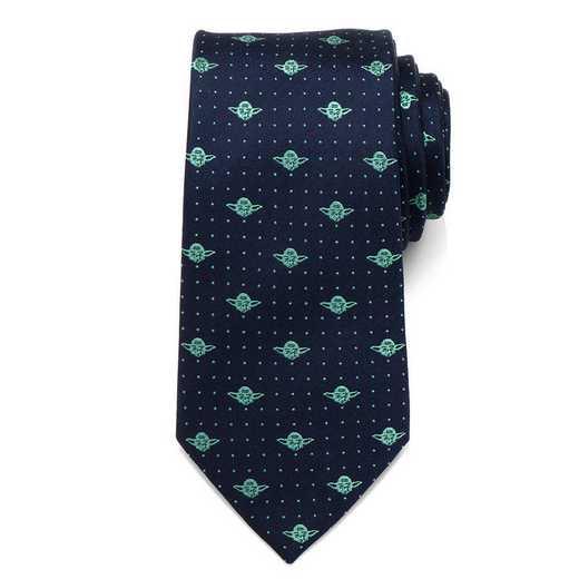 SW-YDDT-BL-TR: Yoda Dot Navy Tie