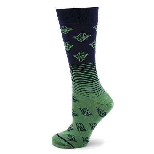 SW-YDOMB-BL-SC: Yoda Ombre Navy Socks