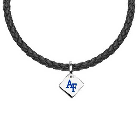 615789588009: Air Force Academy Leather Necklace with SS Tag