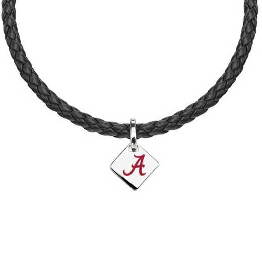 615789989615: Alabama Leather Necklace with SS Tag