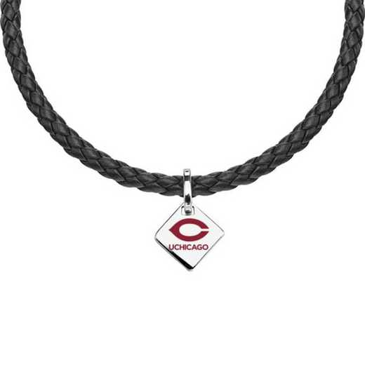 615789392309: Chicago Leather Necklace with SS Tag