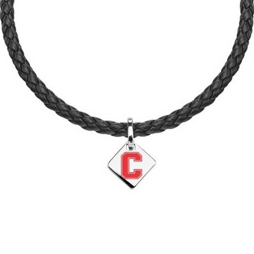 615789976363: Cornell Leather Necklace with SS Tag
