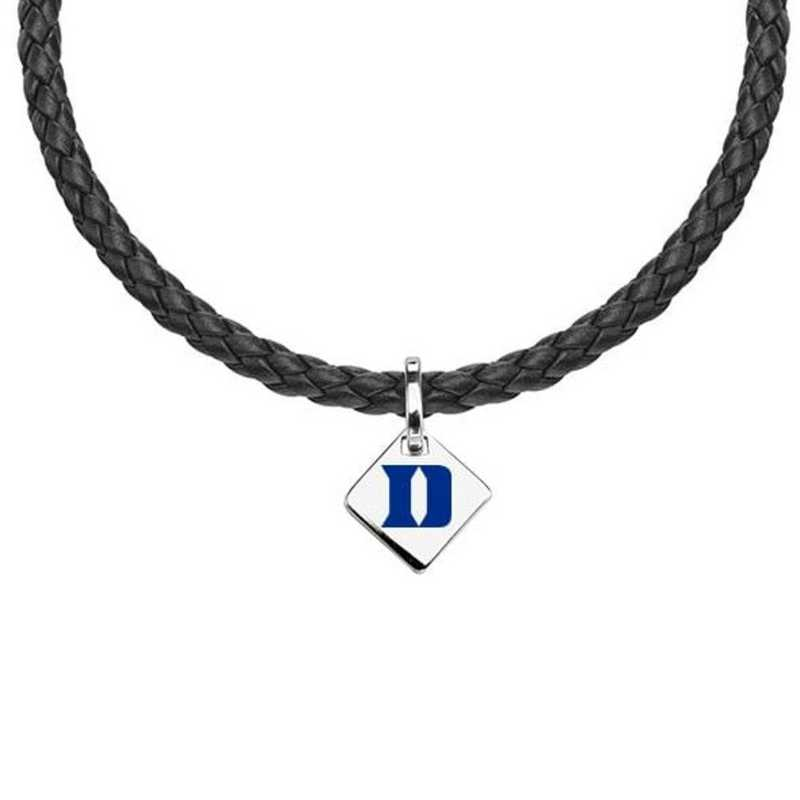 615789265740: Duke Leather Necklace with SS Tag
