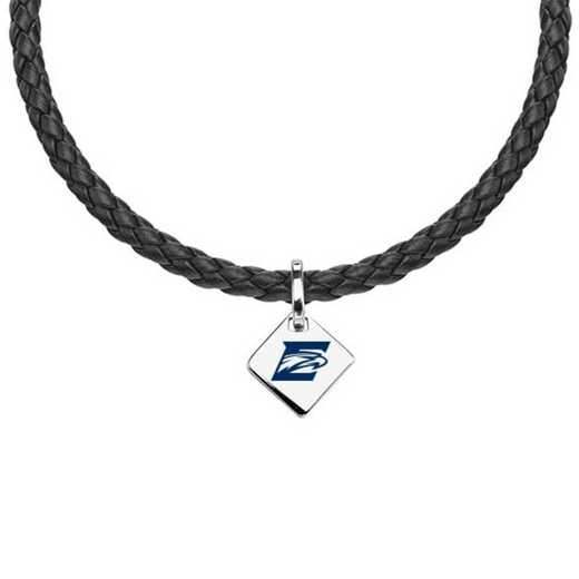 615789044208: Emory Leather Necklace with SS Tag
