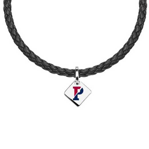 615789814368: Penn Leather Necklace with SS Tag