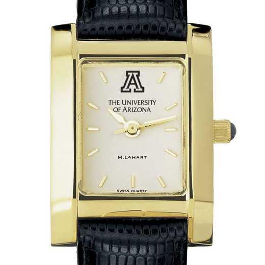 615789148357: univ of Arizona Women's Gold Quad w/ Leather Strap