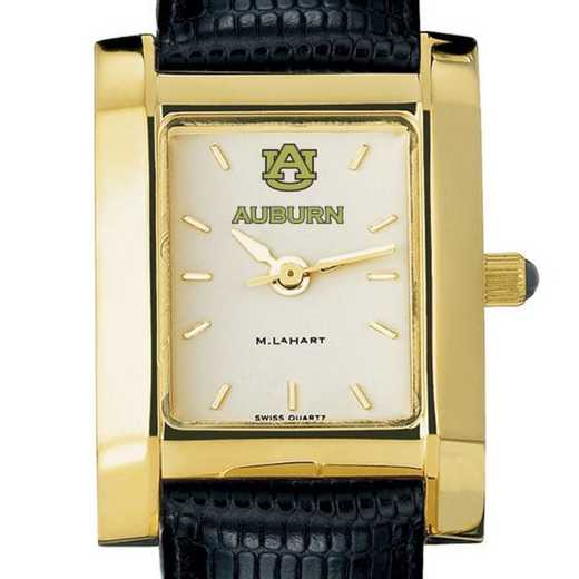 615789224686: Auburn Women's Gold Quad w/ leather strap