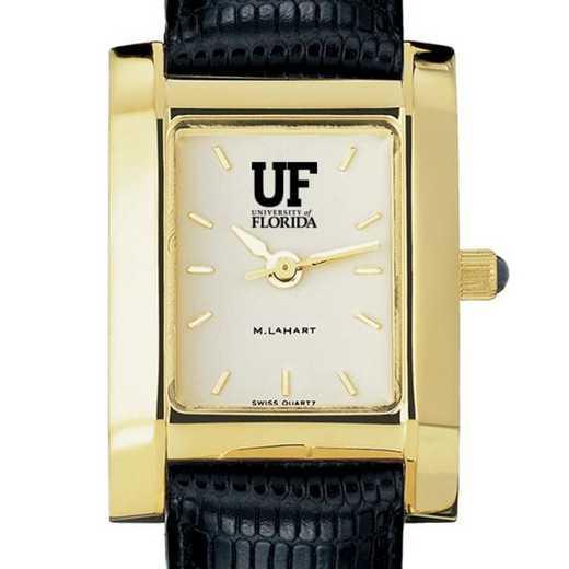 615789344360: Florida Women's Gold Quad w/ Leather Strap