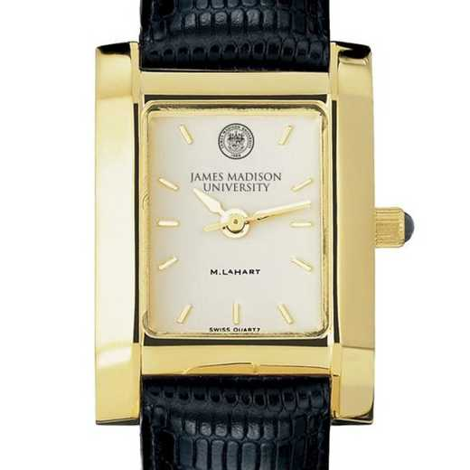 615789399360: James Madison Women's Gold Quad w/ Leather Strap