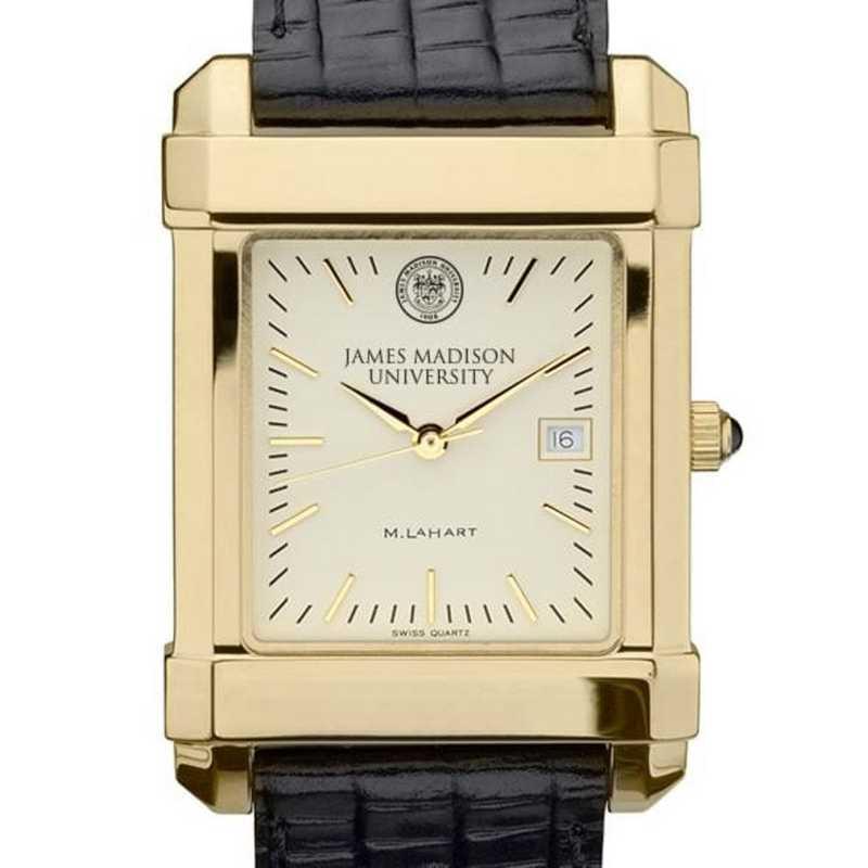 615789960126: James Madison Men's Gold Quad w/ Leather Strap